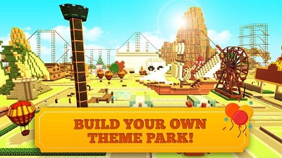 Roller Coaster Craft Blocky Building RCT Games