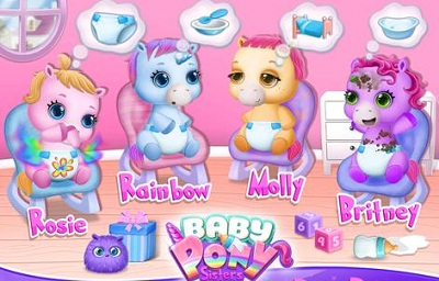 Baby Pony Sisters Virtual Pet Care Horse Nanny