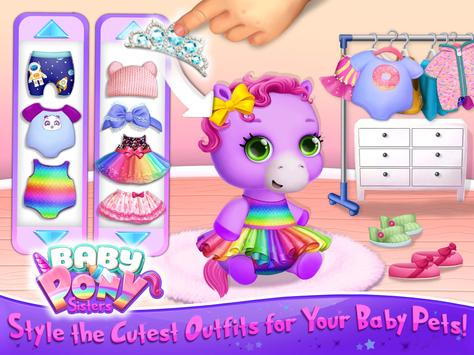 Baby Pony Sisters Virtual Pet Care Horse Nanny3