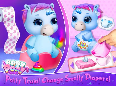 Baby Pony Sisters Virtual Pet Care Horse Nanny6