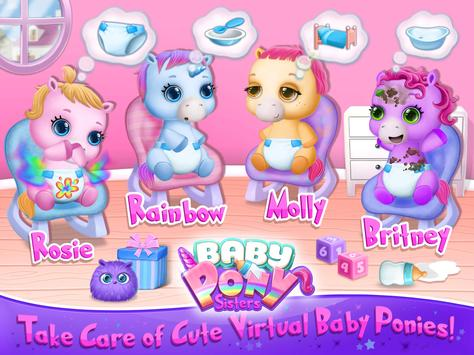 Baby Pony Sisters Virtual Pet Care Horse Nanny7