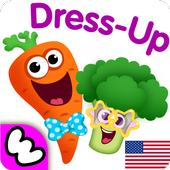 Funny Food DRESS UP games for toddlers and kids