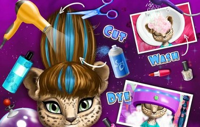 Space Animal Hair Salon Cosmic Pets Makeover