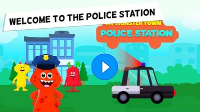 My Monster Town Police Station Games for Kids
