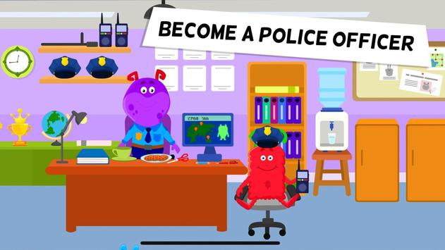 My Monster Town Police Station Games for Kids2