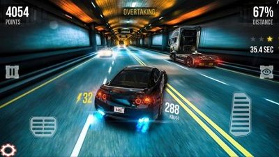 Street Racing Car Traffic Speed 3D