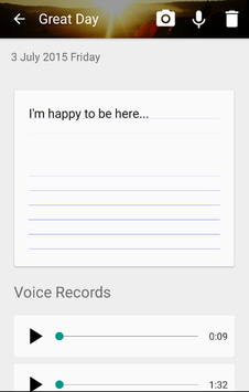 Voice Diary with Photos amp Videos6