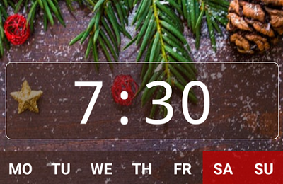 Good alarm clock without ads with music and widget