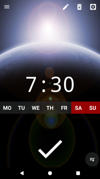 Good alarm clock without ads with music and widget1
