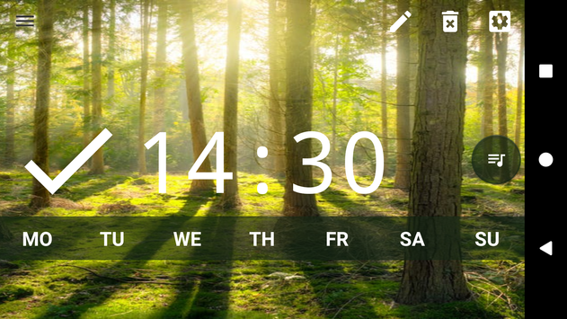 Good alarm clock without ads with music and widget10