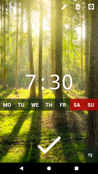 Good alarm clock without ads with music and widget2