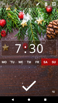 Good alarm clock without ads with music and widget3