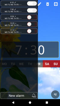 Good alarm clock without ads with music and widget4