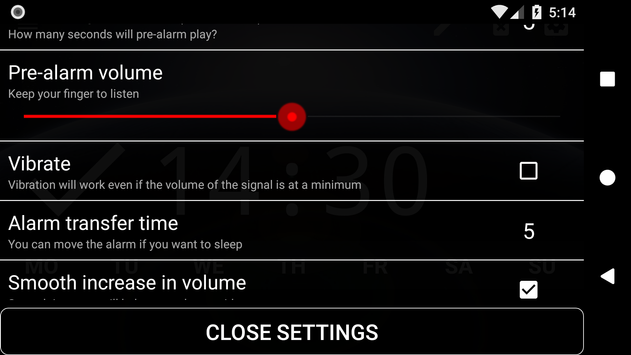 Good alarm clock without ads with music and widget9