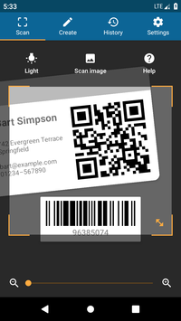 QRbot QR code reader and barcode reader1