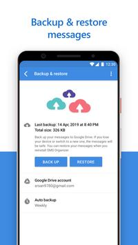 SMS Organizer Clean Reminders Offers Backup5