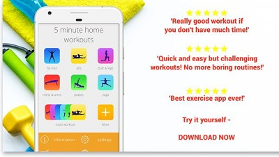 5 Minute Home Workouts Exercises for men women