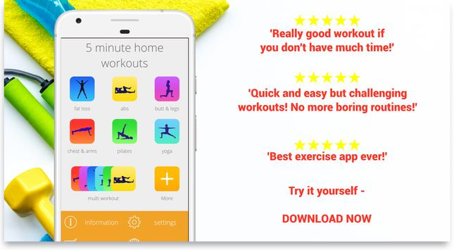 5 Minute Home Workouts Exercises for men women3