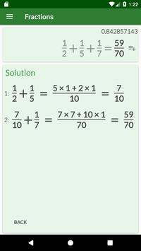 Fractions Calculator detailed solution available5