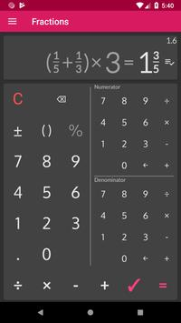 Fractions Calculator detailed solution available7
