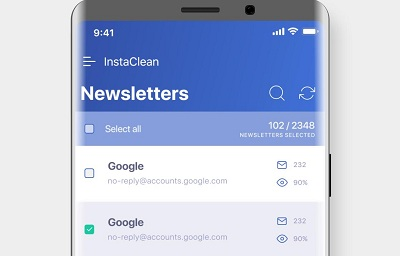InstaClean keep your email inbox clean