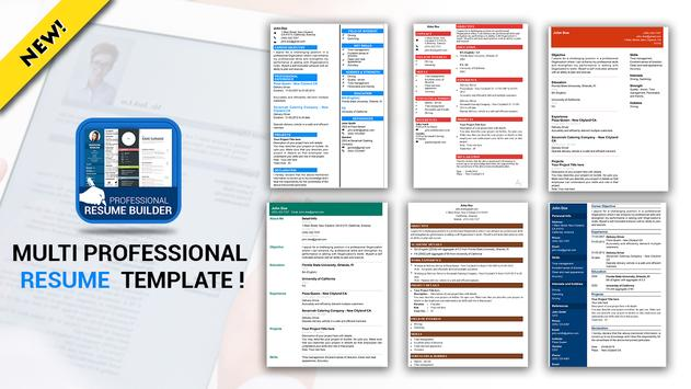 Professional Resume Maker CV builder PDF format2