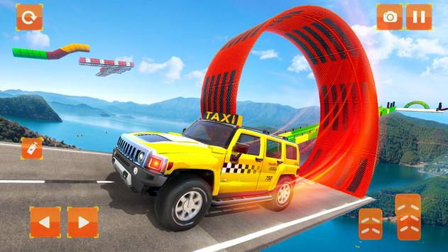 Taxi Jeep Car Stunts Games 3D Ramp Car Stunts2
