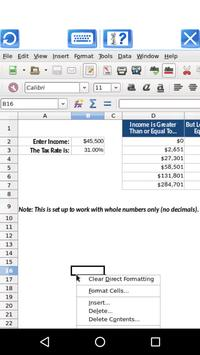 AndroCalc Spreadsheet editor for XLS XLSX and ODS3