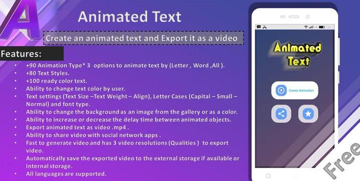 Animated Text Creator Text Animation video maker1