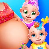 Pregnant Mommy And Twin Baby Care